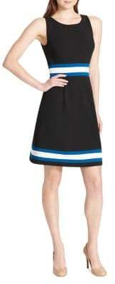 Tommy Hilfiger Colourblock Scuba Crepe Fit--Flare Dress