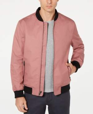 Alfani Men's Fashion Ribbed Bomber Jacket, Created for Macy's