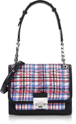 Karl Lagerfeld K/Kuilted Tweed Mini Satchel Bag