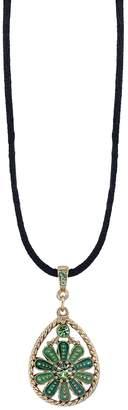 1928 Flower Teardrop Pendant Choker Necklace
