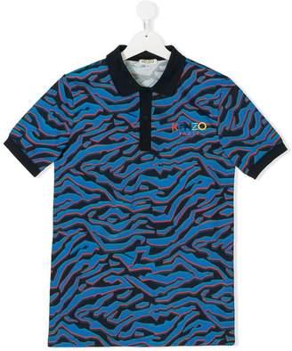 Kenzo TEEN printed polo shirt