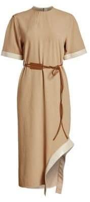 Victoria Beckham Utilitarian Belted T-shirt Dress