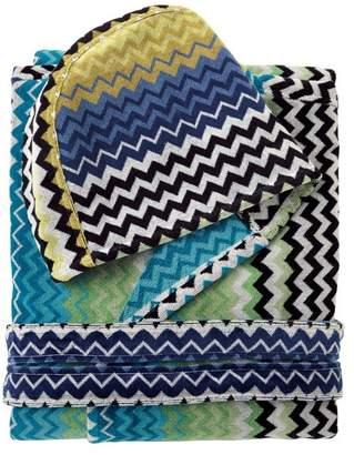 Missoni Home Stan Hooded Bathrobe, Multicolor Blue