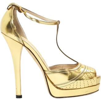 Fendi Gold Leather Heels