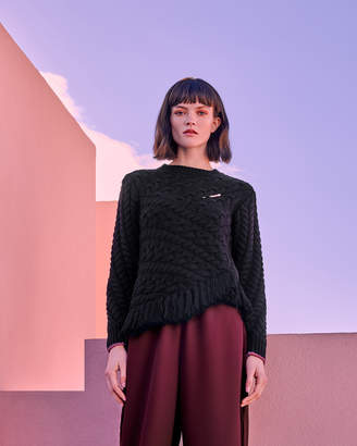 Ted Baker JAIA Fringed cable knit jumper