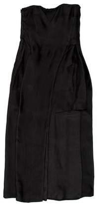 CNC Costume National Strapless Midi Dress
