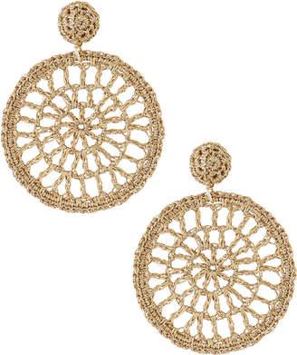 Josie Capri Colette Woven Round Drop Earring