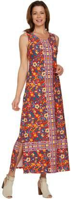 C. Wonder Regular Knit Engineered Floral Print Maxi Dress