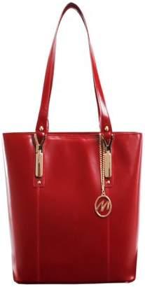 McKlein McKleinUSA SAVARNA, Ladies' Tote with Tablet Pocket, Top Grain Cowhide Leather, Red (97576)