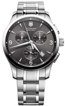 Victorinox Men's Stainless Steel Black Chronograph