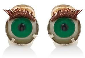 Samuel Gassmann Paris Men's Antique Doll Eye Cufflinks - Green