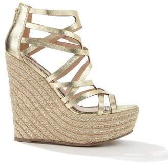 buy popular 9d159 ee35e Gold Platform Wedge Sandals - ShopStyle UK