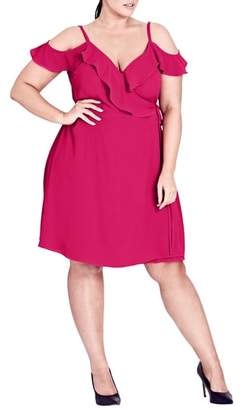 City Chic Lulu Faux Wrap Dress