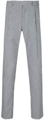 Berwich striped straight leg trousers