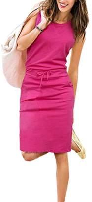 Fashionable LlYT-HR Women's Leisure Habenula Slim-Fit Dress