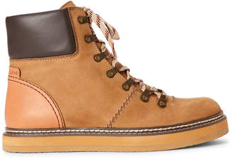See by Chloe Wheat Lace-Up Leather Ankle Boots