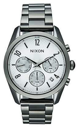 Nixon Women's A9492225-00 Bullet Chrono 36 Analog Display Japanese Quartz Silver Watch