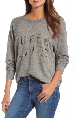 Women's Current/elliott 'The Oversized' Sweatshirt $168 thestylecure.com
