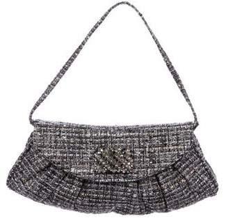 Stuart Weitzman Embellished Tweed Shoulder Bag