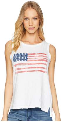 Original Retro Brand The American Flag Sleeveless Slub Tank Top Women's Sleeveless