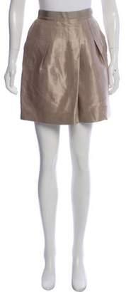 Etro Woven Mini Skirt Champagne Woven Mini Skirt