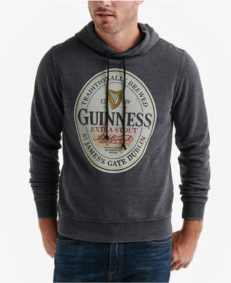 Lucky Brand Men's Guiness Oval Burnout Fleece Hoodie