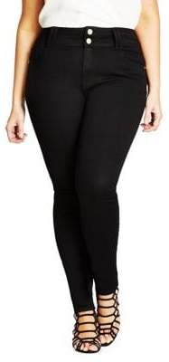 City Chic Plus Asha Apple Dark Jeans
