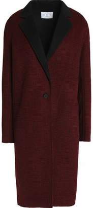 Sandro Paris Houndstooth Wool-Blend Coat