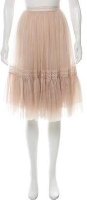 Needle & Thread Crochet-Accented Tulle Skirt