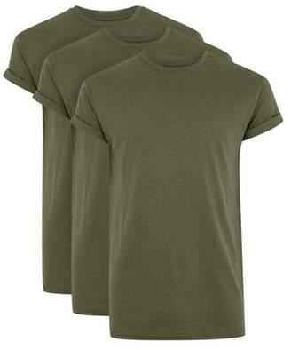 Topman Mens Khaki Skinny Fit Roller T-Shirt 3 Pack*