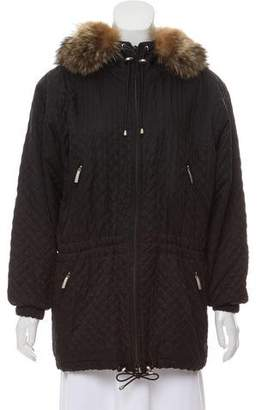 Burberry Fur-Trimmed Short Coat