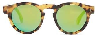 Illesteva - Leonard Round Frame Sunglasses - Mens - Brown