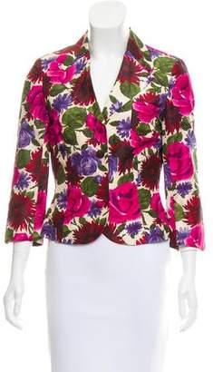 Tibi Silk Floral Blazer
