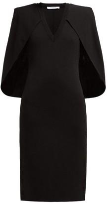 Givenchy Cape Stretch Knit Midi Dress - Womens - Black