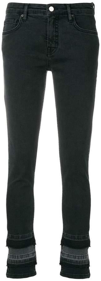 Victoria Victoria Beckham Cropped-Jeans im Lagen-Look