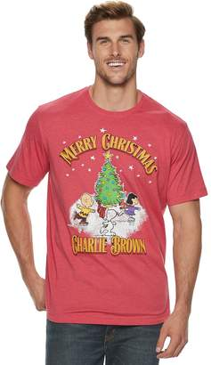 "Big & Tall Peanuts ""Merry Christmas Charlie Brown"" Holiday Tee"