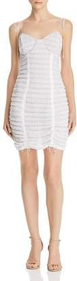 For Love & Lemons Fondant Ruched Lace Dress