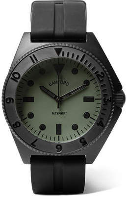Bamford Watch Department - Mayfair Stainless Steel and Rubber Watch - Green
