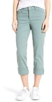 Women's Nydj Dayla Colored Wide Cuff Capri Jeans $98 thestylecure.com