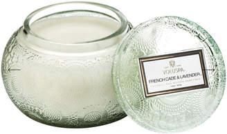 Voluspa French Cade Lavender Embossed Glass Chawan Bowl