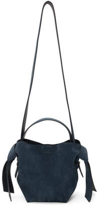 Acne Studios Navy Suede Mini Musubi Bag