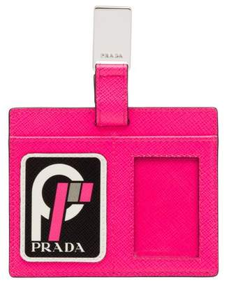 Prada Saffiano Leather Name Tag