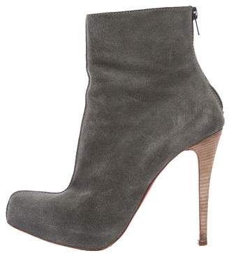 Christian Louboutin Suede Ankle Boots