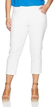 6f14cbcda31 Jag Jeans Women s Plus Size Peri Straight Pull on Crop