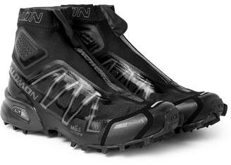 Salomon Snowcross Mesh And Neoprene Boots - Black
