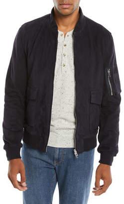 Neiman Marcus Valstar for Men's Suede Bomber Jacket