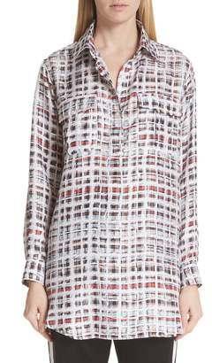 Burberry Sirena Scribble Check Silk Shirt