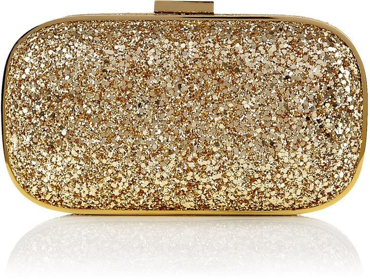 Anya Hindmarch Gold Glitter Marano Clutch