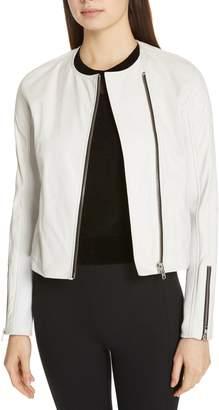 Rag & Bone Harrison Stretch Panel Leather Jacket