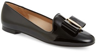 Women's Salvatore Ferragamo Bow Smoking Loafer $525 thestylecure.com
